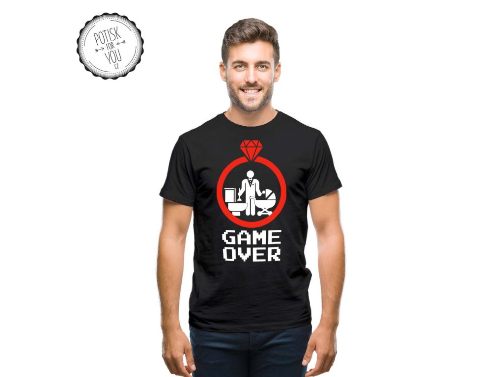 game over 1 black white red