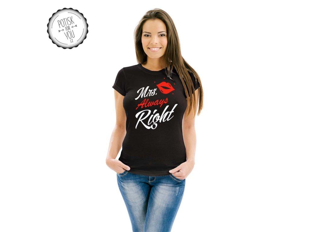 mrs. always right black white red