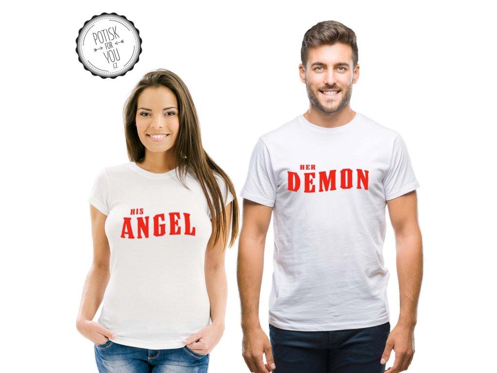 angel demon white red