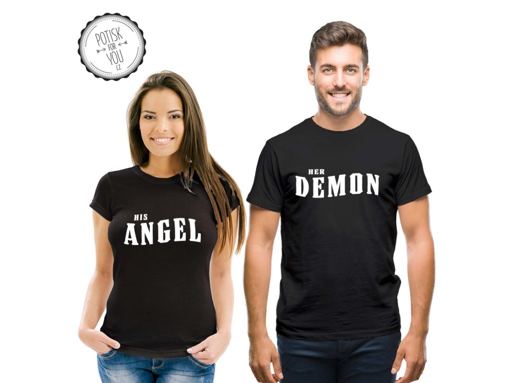 angel demon black white