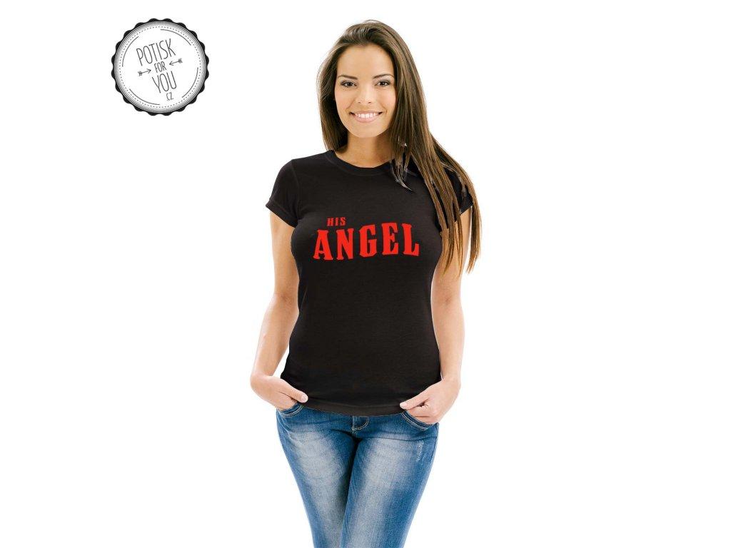 angel black red