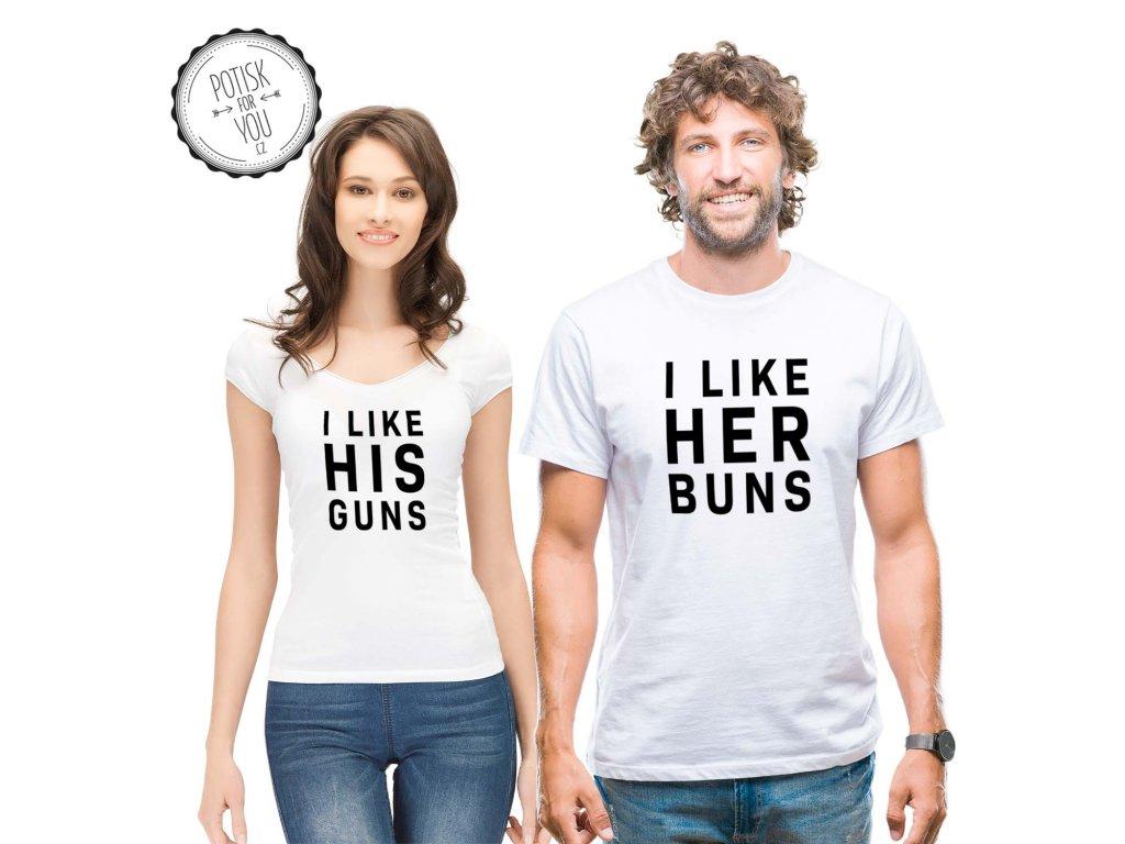buns guns white black