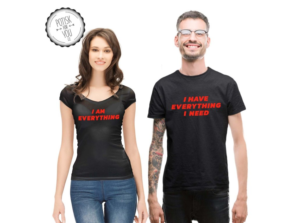 everything black red