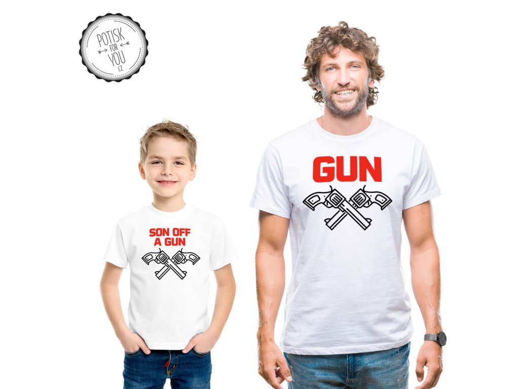 gun white black red