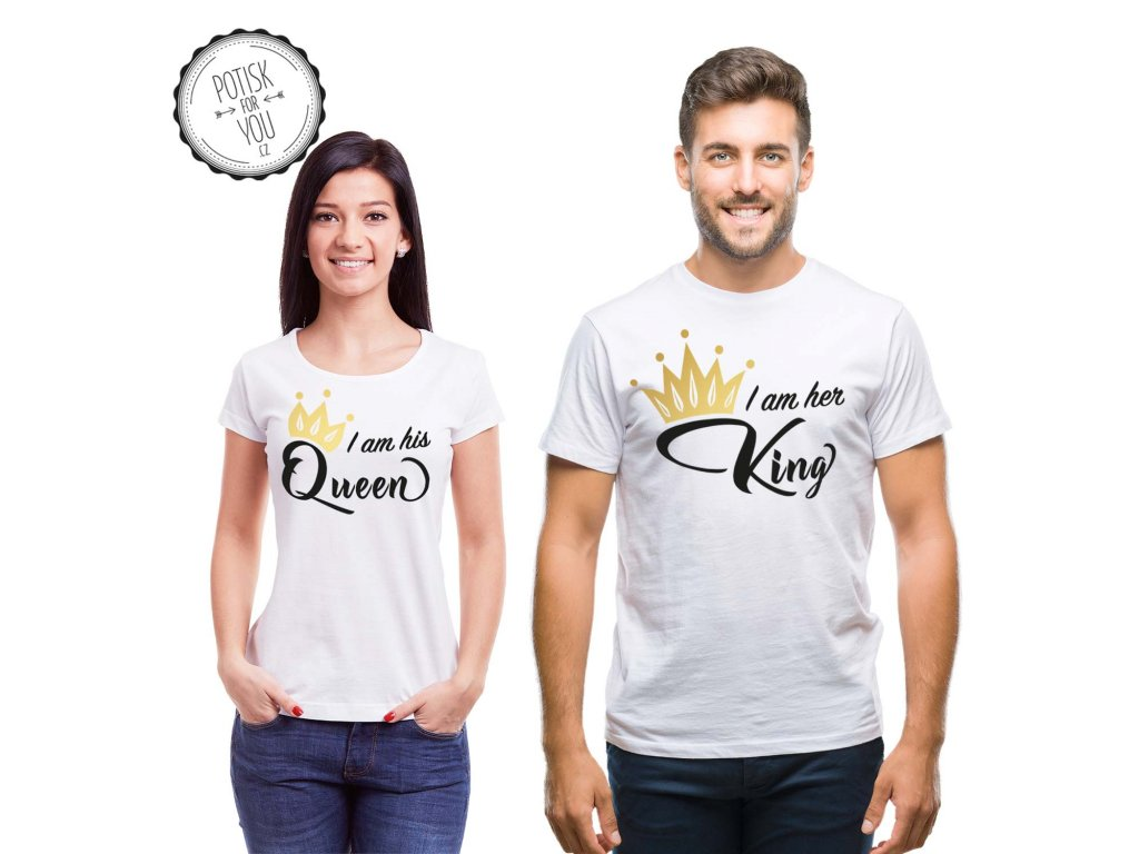 king queen2 white black gold