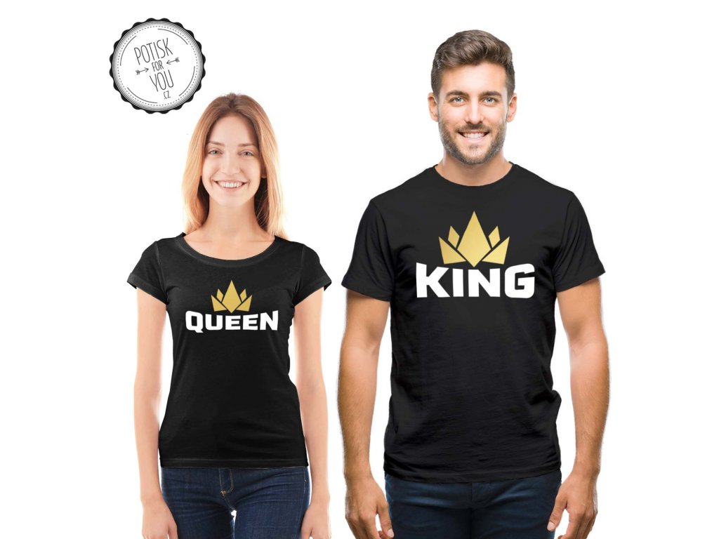 king queen black white gold full