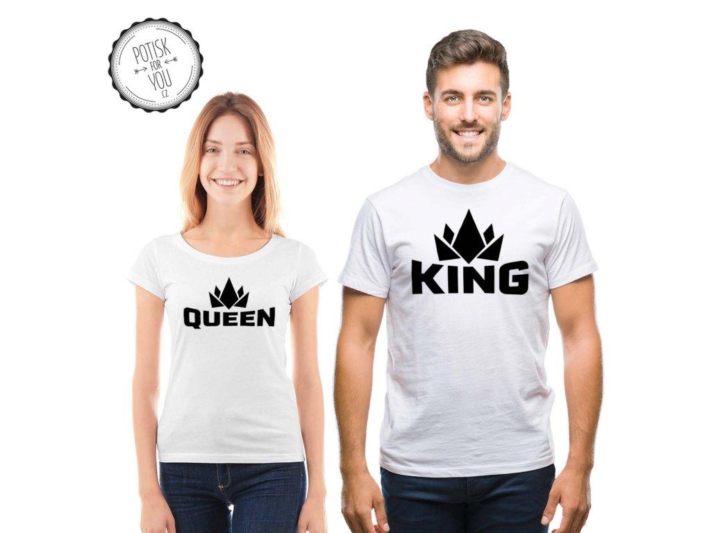 king queen white black black full