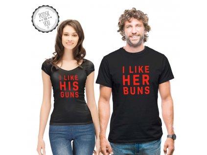 buns guns black red