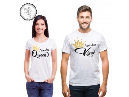 king queen2 white black gold