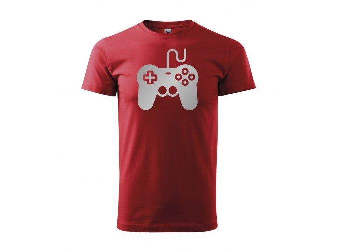 Gamepad červené+stříbro
