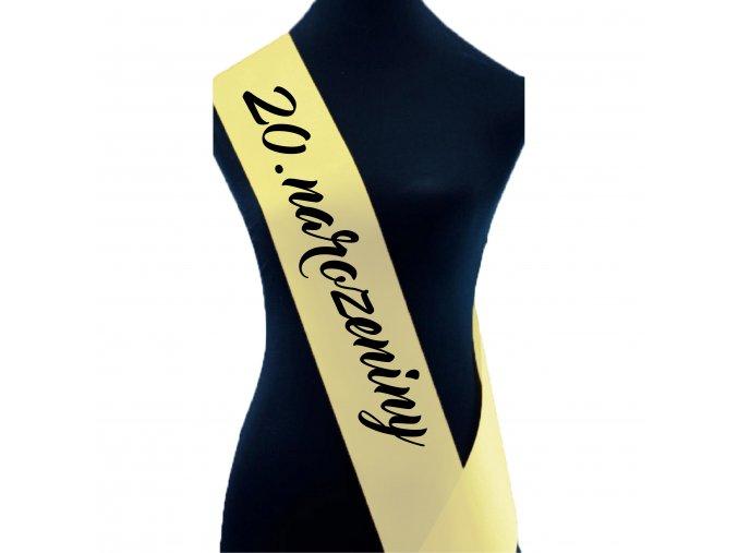20.narozeniny sv.žlutá