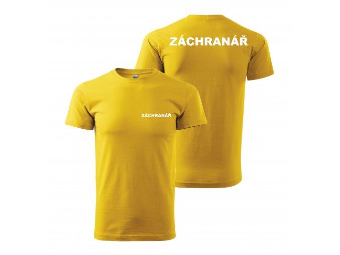 Záchranář žluté+bílý potisk