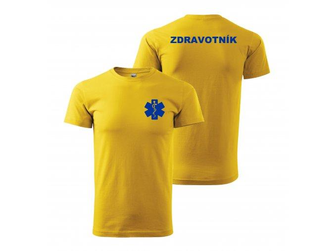 Zdravotník žluté modrý potisk01