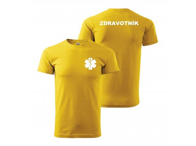 Zdravotník žluté bílý potisk01