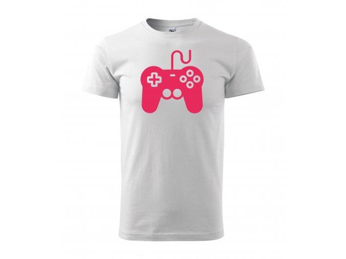 Gamepad bílé+růžová