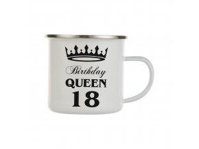 Plechový hrnek s motivem birthday queen