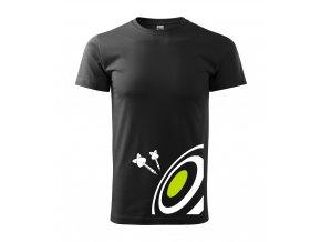 Tričko na šipky 050 černé