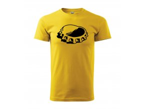 Tričko pro pivaře 236 žluté/černý potisk