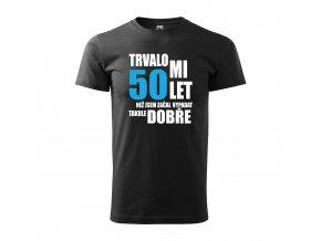 Tričko k 50. narozeninám 304 černé