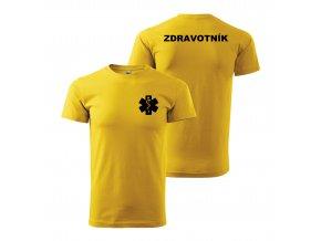 Zdravotník žluté černý potisk01