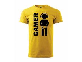 Gamer žlutá+černá