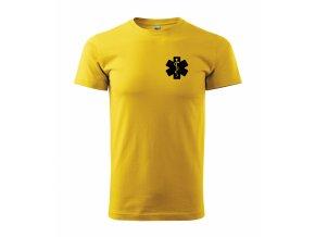 Zdravotník žluté černý potisk