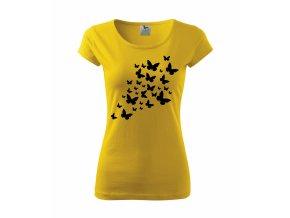 Tričko s Motýly 020 žluté