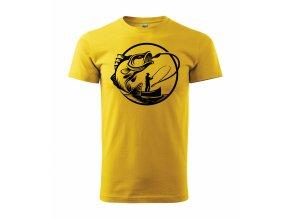 Tričko na ryby 303 žluté
