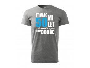 Tričko k 50. narozeninám 304 šedé