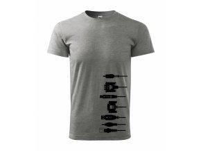 Tričko pro elektrikáře 177 šedé
