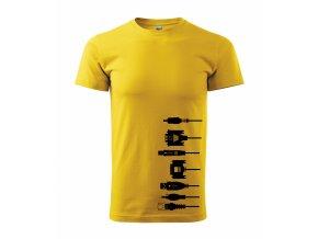 Tričko pro elektrikáře 177 žluté
