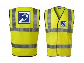 Reflexní vesta žlutá Neslyšící