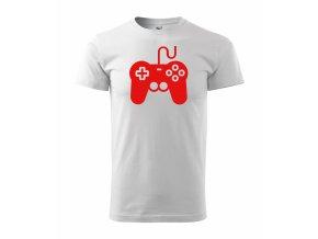 Gamepad bílé+červená