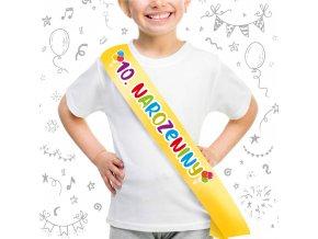 Dětská šerpa 10.narozeniny - banánová