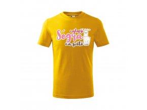 Tričko Nejlepší ségra 431 - žluté