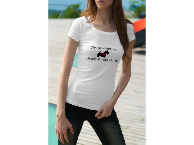 skotský teriér tričko