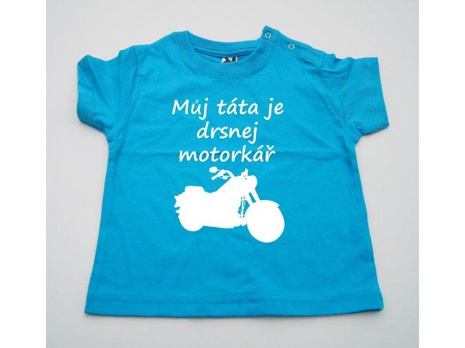Dětské triko Táta motorkář