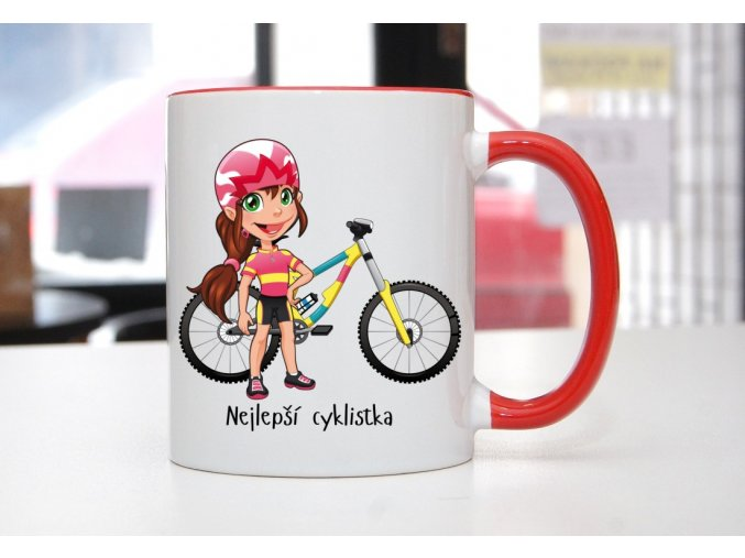 hrnek cyklistka