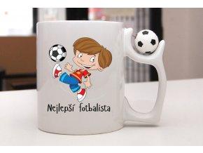 hrnek míček fotbalista
