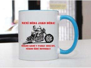 děda motorkář hrnek
