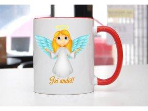 hrnek anděl žena