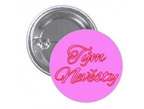 návrh placky růžový tým nevěsty červenorůžový alex brush font