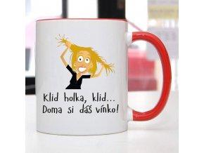 hrnek klid vínko blond vlasy
