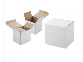 Bílá krabička na hrnek