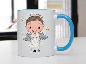 hrnek modrý andílek