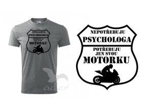 triko Psycholog biker