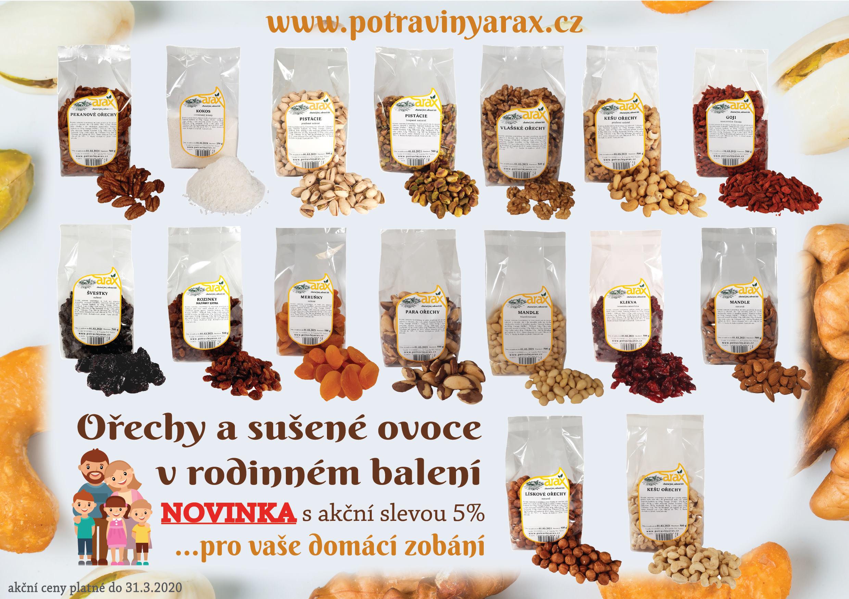Ořechy a sušené ovoce