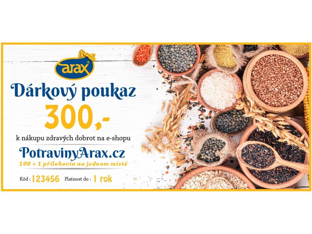 Darkovy poukaz UNI 2020 PotravinyArax.cz 300Kč