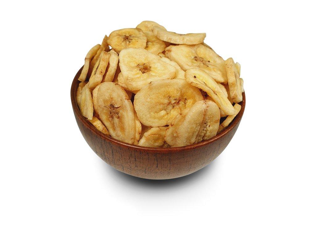 Banánové chipsy plátky