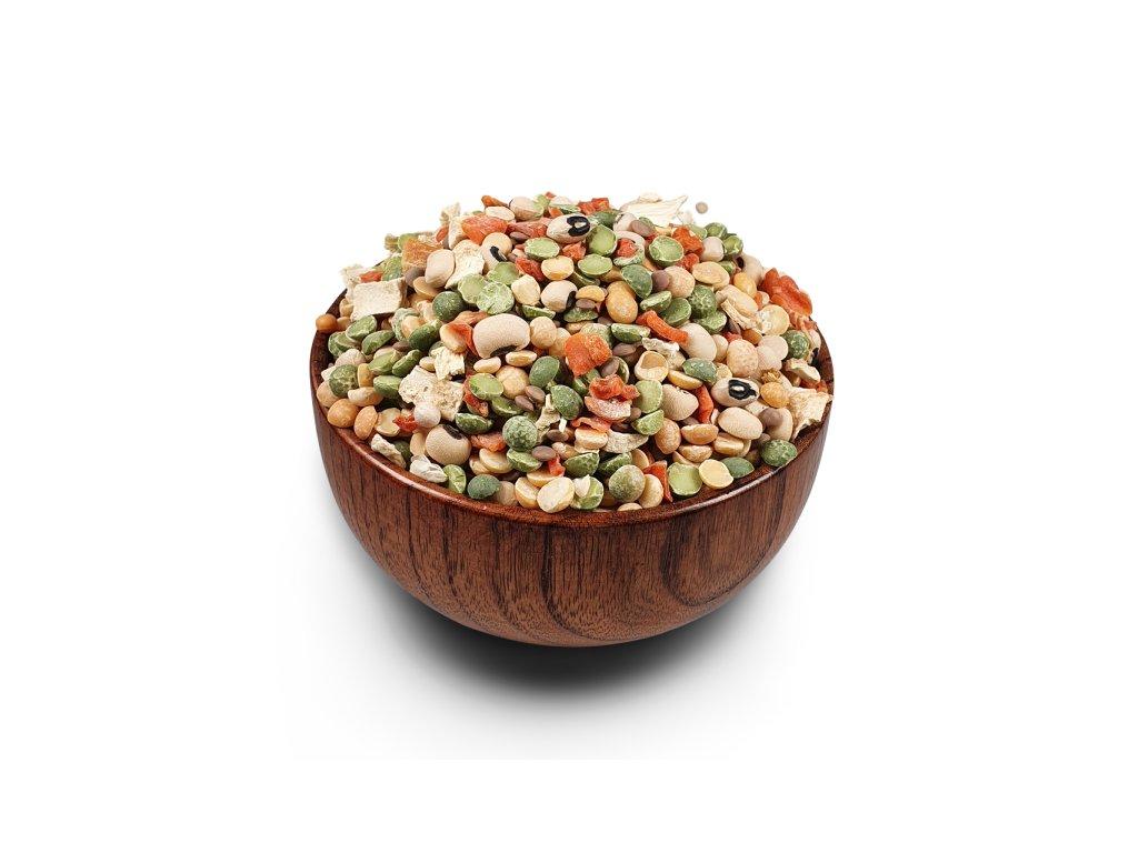 Polévková směs s fazolí černé oko a hrachem